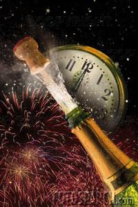 Ano Novo - Envie este postal e peça aos seus amigos p sintonizar o relógio...