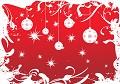 Postais de Natal vestido de Vermelho
