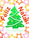 Postais de Feliz Natal colorido