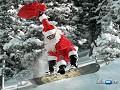 Clique na imagem para enviar o postal: Pai Natal (Snowboard)