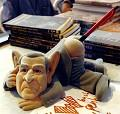 Postais de Bush suporte canetas