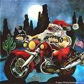 Postais de Pai Natal motoqueiro