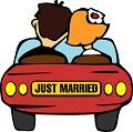 Postais de Just Married
