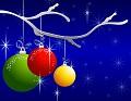Postais de Bolas de Natal