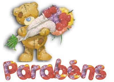 Clique na imagem para enviar o postal: Ursinho de Parabéns