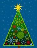 Postais de Árvore de Natal Moderna